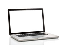 Laptop, jak macbook z pustym ekranem obrazy royalty free