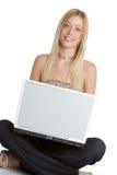 Laptop-jugendlich Mädchen Lizenzfreies Stockbild