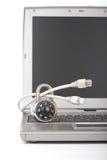 laptop kłódka Fotografia Royalty Free