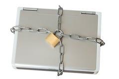 Laptop in Kettingen royalty-vrije stock afbeelding