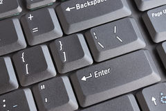 Laptop keyboard. Row of laptop keyboard - closeup view royalty free stock images