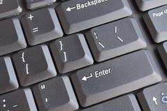 Laptop keyboard. Row of laptop keyboard - closeup view Royalty Free Stock Images