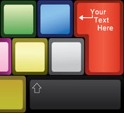 Laptop Keyboard. Keyboard of a laptop with space for text vector illustration