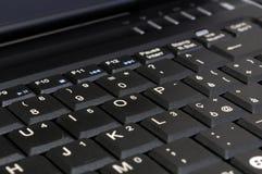 Laptop Keyboard. The Laptop keybord close-up Stock Photos