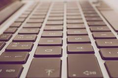Laptop keyboard. Background - vintage style Stock Image