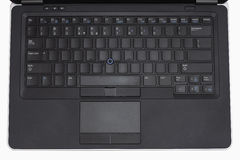 Laptop keyboard with blank keys Stock Photo