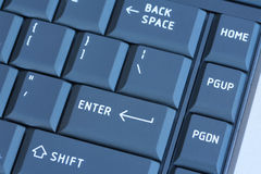 Laptop Keyboard in Blue Royalty Free Stock Photo
