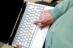 Laptop keyboard button Stock Photo