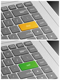 Laptop Keyboard with Buy and Sell Buttons Stock Photography