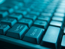 Laptop Keyboard Close-Up Royalty Free Stock Photo