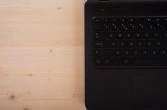 Laptop keyboard close-up Stock Image