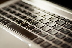 Laptop keyboard detail Royalty Free Stock Photography