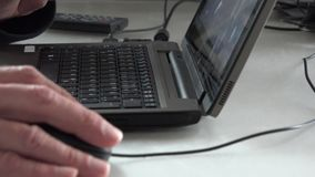Laptop keyboard. Hacker typing program on a laptop keyboard stock footage