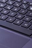 Laptop Keyboard Keys and Touch Pad Royalty Free Stock Images