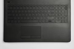 Laptop keyboard and touchpad stock photography