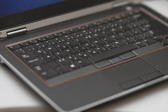 Laptop keyboard with touchpad Royalty Free Stock Photos