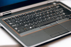 Laptop keyboard with touchpad Royalty Free Stock Photography