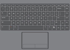 Laptop keyboard US Royalty Free Stock Images