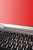 Laptop keyboard with words I need you and red screen copyspace Royalty Free Stock Photography