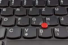 Laptop keyboards detail 2. Laptop keyboards detail, red colored button in keyboard Stock Photos