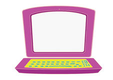 Laptop for kids Royalty Free Stock Photos