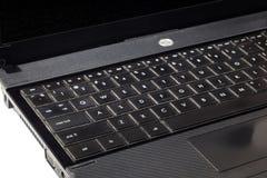 Laptop klawiatura przeciw bielowi Fotografia Stock