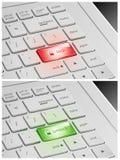 Laptop klawiatura z kędziorkiem i Otwiera guziki Obraz Stock