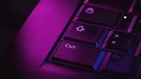 Laptop klawiatury szczegóły Obrazy Stock