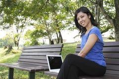 laptop kobieta Zdjęcia Stock