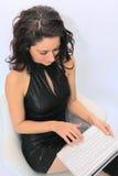 laptop kobieta biurowa seksowna Zdjęcia Stock