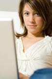 laptop komputerowa kobieta Fotografia Stock