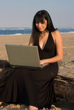 Laptop Lady Stock Photography