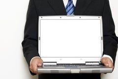 Laptop LCD Screen Mockup Stock Photo