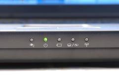 Laptop LED's Stock Image