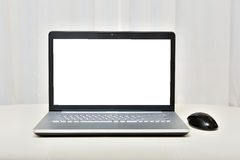 The laptop on a light background Stock Photography