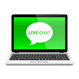 Laptop with Live Chat Royalty Free Stock Photography
