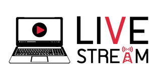 Laptop live stream logo. A laptop live stream logo Royalty Free Stock Image
