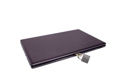 Laptop. The laptop on the lock Royalty Free Stock Photo