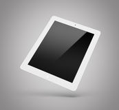 Laptop lokalisiert auf einem grauen Hintergrund Stockfotos