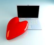Laptop in Love Stock Photo