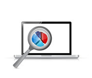 Laptop magnify business concept illustration Royalty Free Stock Photo