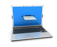 Laptop-mail Stock Photo