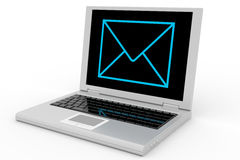 Laptop mail. Royalty Free Stock Photo