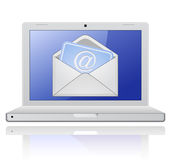 Laptop with mail envelope. E-mail concept Royalty Free Stock Photography