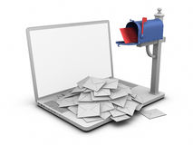 Laptop - Mailbox Stock Photos