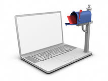 Laptop - Mailbox Royalty Free Stock Image