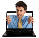 Laptop man Royalty Free Stock Photo
