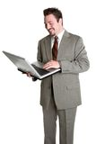 Laptop Man Stock Image