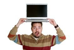 Laptop Man Stock Photo