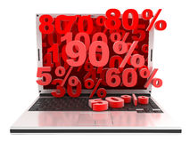 Laptop markdown Stock Images